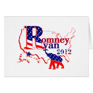 Romney Ryan 2012 - un equipo que gana para la Tarjeta De Felicitación