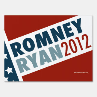Romney Ryan 2012 Yard Sign