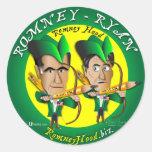 Romney Ryan 2 Archers Etiqueta Redonda