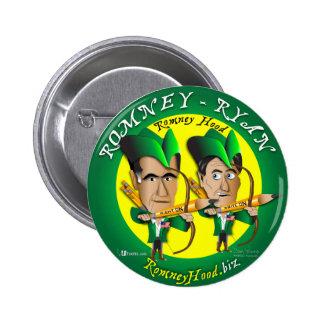 Romney Ryan 2 Archers Pinback Button