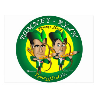 Romney Ryan 2 Archers Postcard
