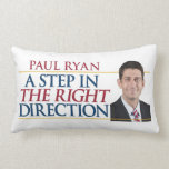 Romney/Ryan A Step In The Right Direction Pillow