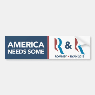 Romney Ryan America Need Some R and R Bumper Bumper Sticker