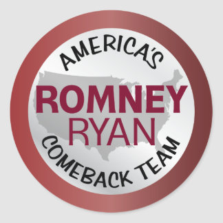 Romney Ryan America s Comeback Team Stickers