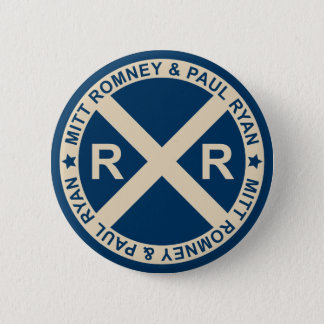 Romney Ryan American Crossroads Button