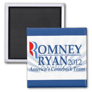 Romney Ryan, America's Comeback Team 2 Inch Square Magnet