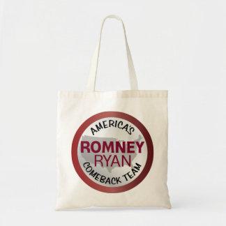 Romney Ryan America's Comeback Team Canvas Bags