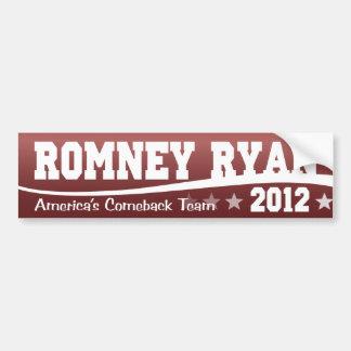 Romney Ryan America's Comeback Team Car Bumper Sticker