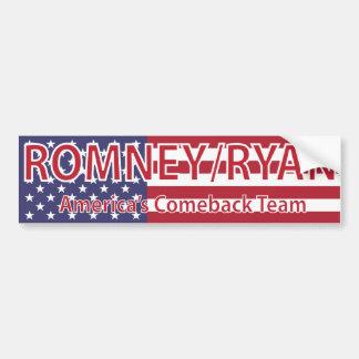 Romney/Ryan America's Comeback Team Bumper Sticker