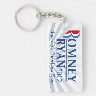 Romney Ryan, America's Comeback Team Keychain