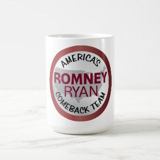 Romney Ryan America's Comeback Team Classic White Coffee Mug