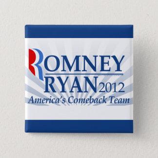 Romney Ryan, America's Comeback Team Pinback Button