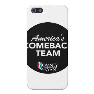 Romney Ryan America's Comeback Team Round (Black) Cover For iPhone 5