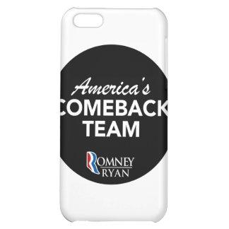 Romney Ryan America's Comeback Team Round (Black) iPhone 5C Cover