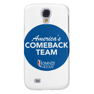 Romney Ryan America's Comeback Team Round (Blue) Samsung Galaxy S4 Covers
