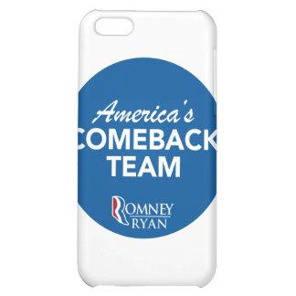 Romney Ryan America's Comeback Team Round (Blue) iPhone 5C Cases