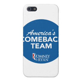 Romney Ryan America's Comeback Team Round (Blue) Case For iPhone 5