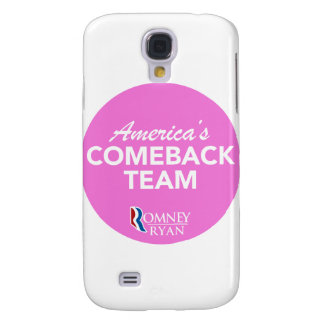 Romney Ryan America's Comeback Team Round (Pink) Galaxy S4 Covers