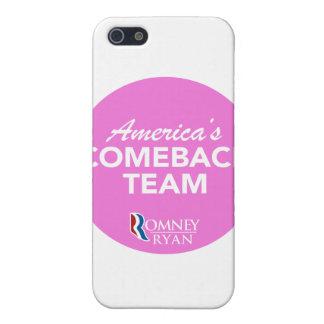 Romney Ryan America's Comeback Team Round (Pink) iPhone 5 Case