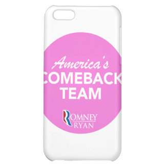 Romney Ryan America's Comeback Team Round (Pink) iPhone 5C Covers