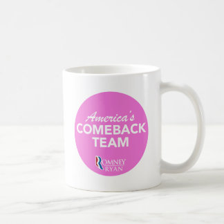 Romney Ryan America's Comeback Team Round (Pink) Mugs
