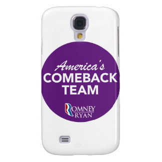 Romney Ryan America's Comeback Team Round (Purple) Galaxy S4 Case