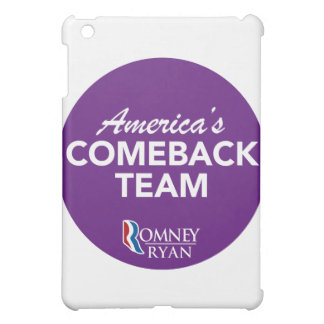 Romney Ryan America's Comeback Team Round (Purple) iPad Mini Cover