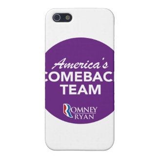 Romney Ryan America's Comeback Team Round (Purple) iPhone 5 Cover