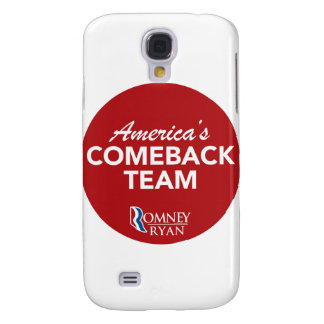 Romney Ryan America's Comeback Team Round (Red) Galaxy S4 Cover