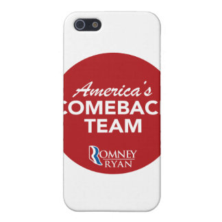 Romney Ryan America's Comeback Team Round (Red) iPhone 5 Covers