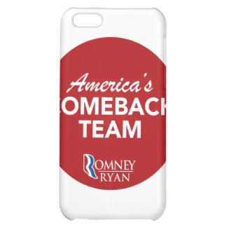 Romney Ryan America's Comeback Team Round (Red) iPhone 5C Cases