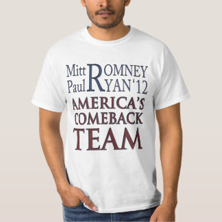 Romney Ryan Americas Comeback Team T Shirt