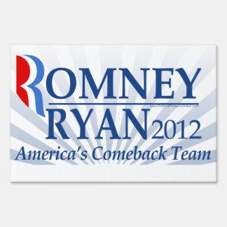Romney Ryan, America's Comeback Team Signs
