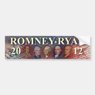 Romney - Ryan - antepasados - 2012 Pegatina Para Auto