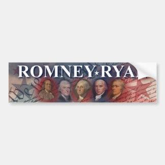 Romney - Ryan - antepasados Pegatina De Parachoque