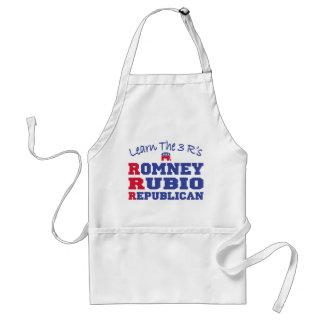 Romney Ryan aprende los 3 r Delantal