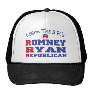 Romney Ryan aprende los 3 r Gorro De Camionero