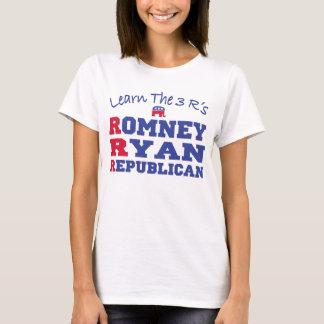 Romney Ryan aprende los 3 r Playera