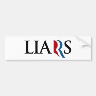 ROMNEY RYAN ARE LIARS -.png Car Bumper Sticker