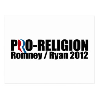 ROMNEY RYAN ARE PRO-RELIGION png Postcards
