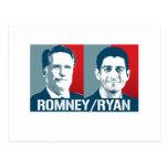 ROMNEY RYAN ART POST CARD