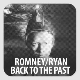 Romney Ryan, Back to the Past Square Sticker