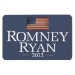 Romney Ryan - bandera de los E.E.U.U. Imán De Vinilo
