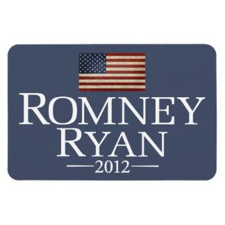 Romney Ryan - bandera de los E.E.U.U. Imán Flexible