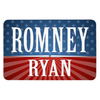 Romney Ryan - barras y estrellas Imán Foto Rectangular