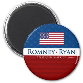 Romney & Ryan Believe in America 2 Inch Round Magnet