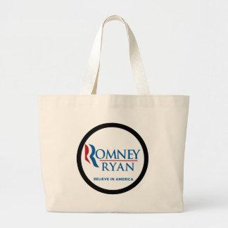Romney Ryan Believe In America Black Border Bag