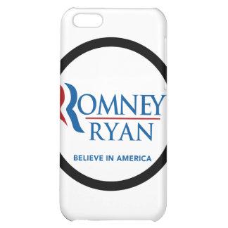 Romney Ryan Believe In America Black Border Cover For iPhone 5C