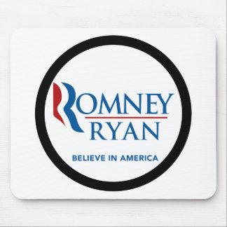 Romney Ryan Believe In America Black Border Mousepad