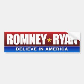 Romney - Ryan - Believe in America Bumper Sticker